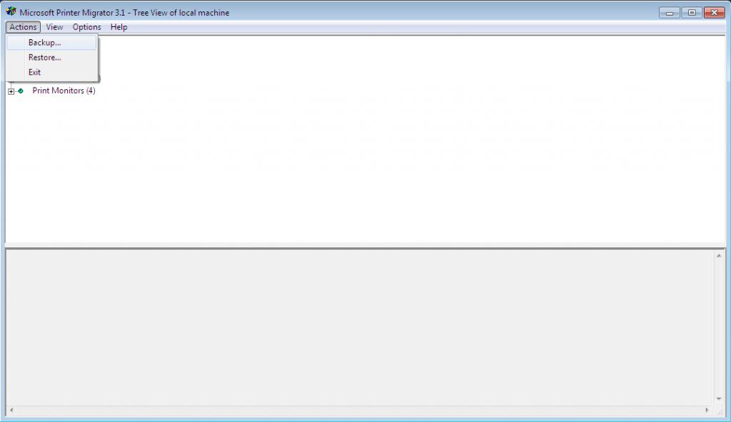 Microsoft Print Migrator Screenshot