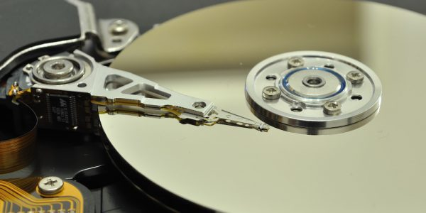 Crashed Hard Drive Opened for Recovery