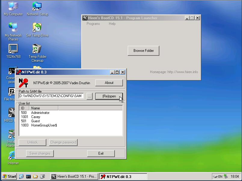 Hiren's BootCD Screenshot