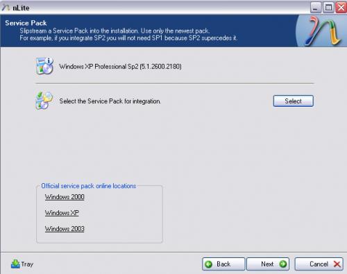 Windows XP nLite Service Pack