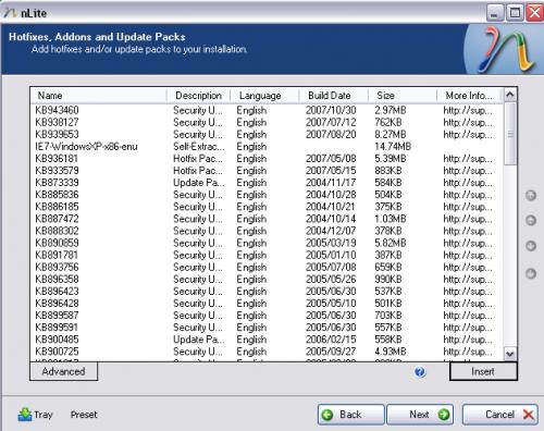 Windows XP nLite