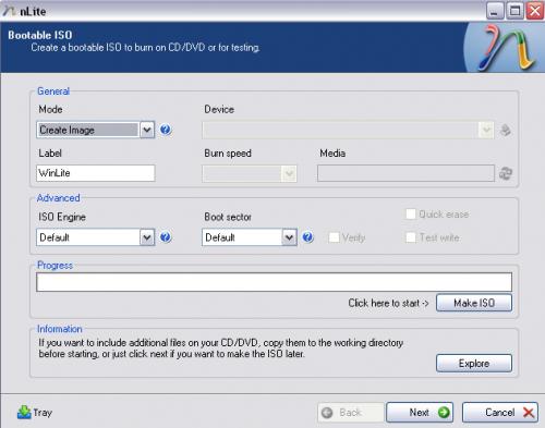 Create bootable ISO nLite windows xp