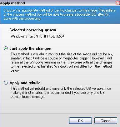 nlite vista - vLite changes application