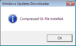 Windows 7 manual update - Windows Update Downloader message box