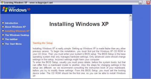 Windows XP Setup Guide Screenshot
