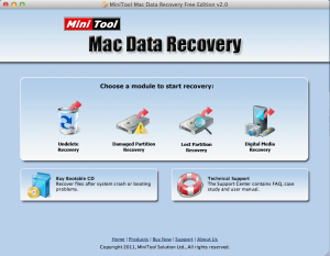 Mac Hard Drive Data Recovery - MiniTool Mac Data Recovery Screenshot