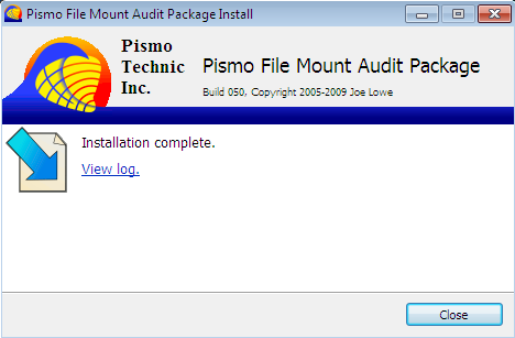 Pismo File Mount Audit Package Screenshot