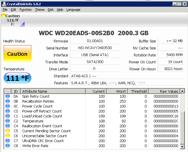 CrystalDiskInfo Screenshot