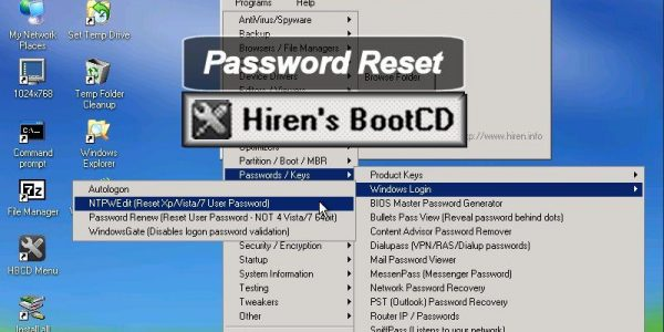 mini xp remove password