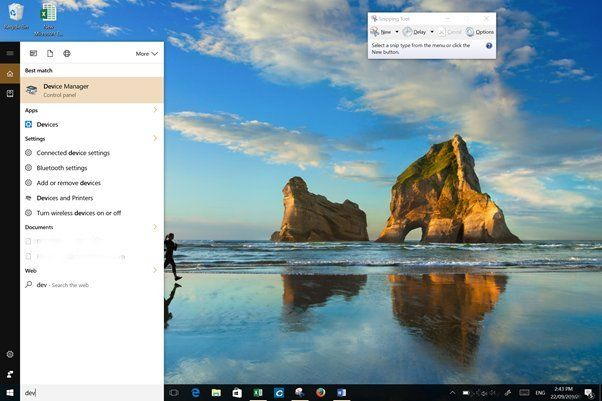 DPC Watchdog Violation fix Windows 10 search DEVICE MANAGER