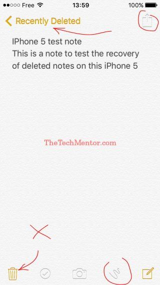 how to recover deleted notes on iphone 5s without backup