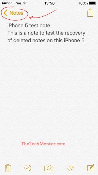 how to recover deleted notes on iphone 5 without backup