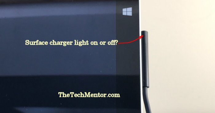 surface wont turn on charger on or off