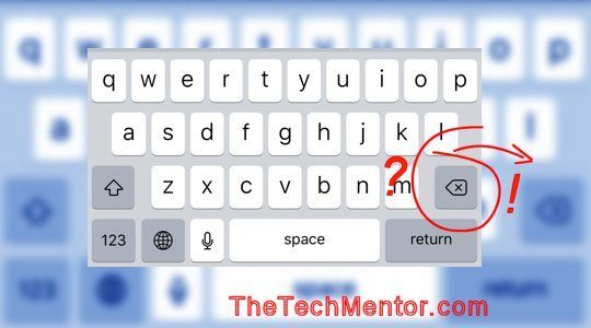 how to foward delete on iphone keyboard