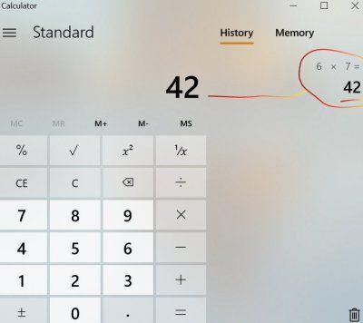 calculator confirms memorization technique