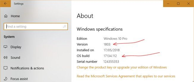 windows10 update manually build version