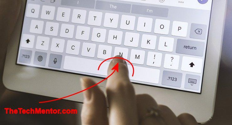 how to backspace on ipad without deleting