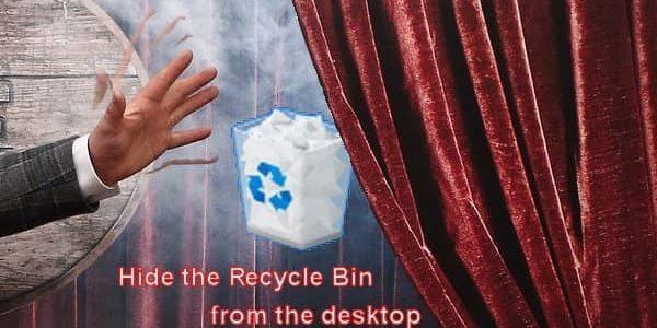 hide recycle bin windows 10