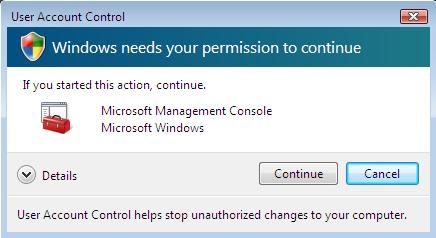 Security Confirmation Box Screenshot