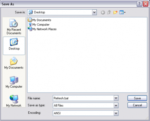 Create a Batch File to Easily Refresh Network Settings
