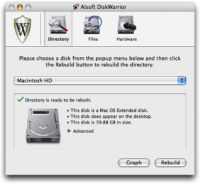 Disk Repair Mac - DiskWarrior free trial or at cost -Screenshot