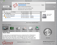 Mac data recovery program - Data Rescue II Screenshot