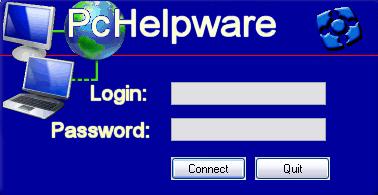 PCHelpWare Login Box