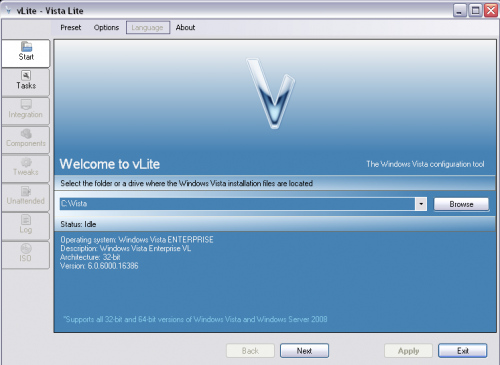 vLite - nLite Vista